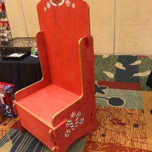 Santa Chair Red Classic Claus
