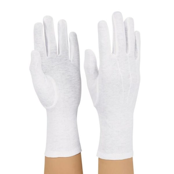 Santa Gloves White Classic Claus