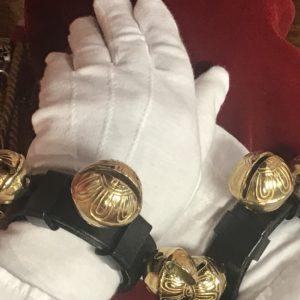 Classic Claus Shop Santa Wrist Ankle Bells Premium Brass