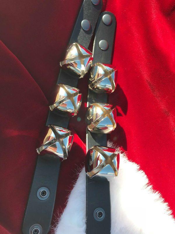 Classic Claus Shop Santa Wrist Bells Silver
